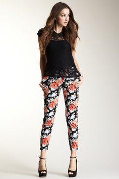 Bardot Floral Pant. Looooove these pants