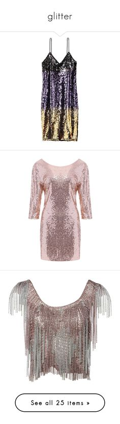 """""""glitter"""" by millons ❤ liked on Polyvore featuring dresses, embroidered mesh dress, sequin cocktail dresses, v-neck sequin dresses, embroidery dress, sequin mesh dress, backless sequin dress, slim fitting dresses, backless dresses and backless cocktail dresses"""