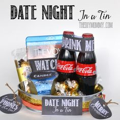 A Gift in a Tin: Date Night in a Tin | The DIY Mommy
