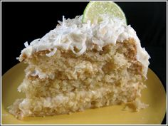 Coconut-Key Lime Cake...it's like my two favorite desserts had a delicious baby!