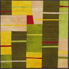 Lines III - Small Textile, Art Quilt, Fabric Wall Hanging door LisaFlowersRoss op Etsy https://www.etsy.com/nl/listing/119387259/lines-iii-small-textile-art-quilt-fabric