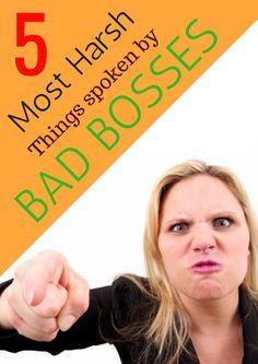 5 Most Harsh Things Spoken by Bad Bosses  #BadBosses