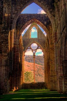 """~ Tintern Abbey ~ built in 1131 ~ stunning ruins ~ inspired William Wordsworth's poem """"Lines written a few miles above Tintern Abbey"""" ~ inspired Alfred, Lord Tennyson's poem """"Tears, Idle Tears"""" ~ Wales, UK, ~ on the border of Wales and Gloucestershire ~ visit on the way to Cheltenham, Cotswolds ~"""