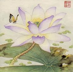 Jinghua Gao Dalia - Brush Magic- Over 3 decades of Chinese watercolor brush painting experience Watercolor Lotus, Lotus Painting, Japan Painting, Watercolor Flowers, Lotus Flower Art, Lotus Art, Korean Art, Asian Art, Chinese Painting