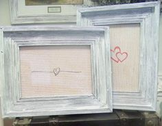 2 Rustic Wooden Picture Frames by sugarplumcottage on Etsy, $36.00