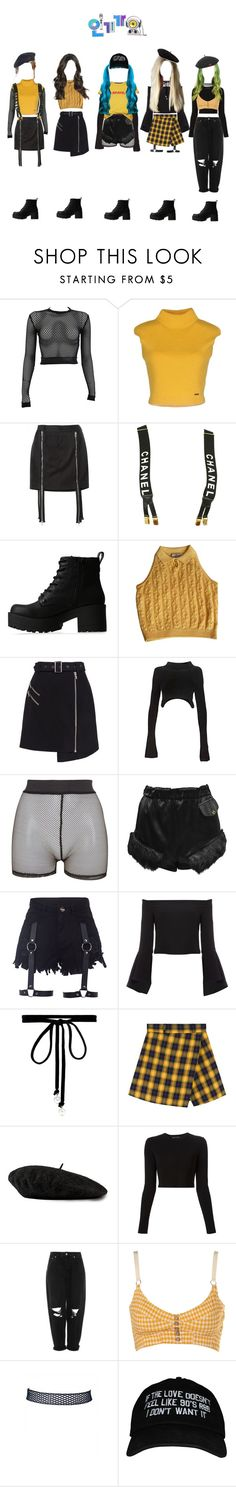 """""""«The 7th Sense» Inkigayo ← Debut Stage"""" by kreature-official ❤ liked on Polyvore featuring PAM, Dsquared2, Hood by Air, Chanel, Lipstik, Versace, Cameo, Alexander Wang, Bitching & Junkfood and Vivienne Westwood"""