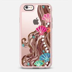 Mermaid Hair Cocoa - New Standard iPhone 6 Case in Pink Gray and Clear by /lisaargy/ | /casetify/