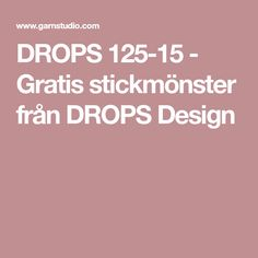 DROPS 125-15 - Gratis stickmönster från DROPS Design
