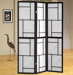 "Sarai 70"" x 54"" 3 Panel Room Divider"