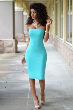 ecstasymodels:  Minty Fresh  Mandisa Mint Green Two Way Tube Dress Chic Couture