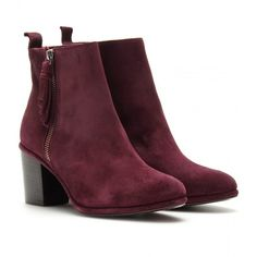 Opening Ceremony Shirley Suede Ankle Boots ($438) ❤ liked on Polyvore