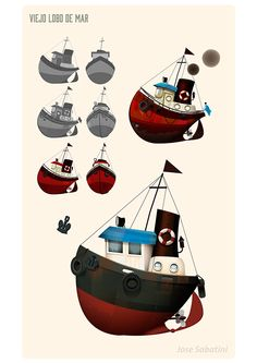 Viejo Lobo de Mar (Parte 2) by Jose Sabatini, via Behance