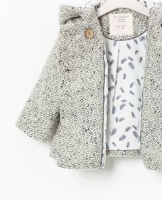 Hooded Coat With Ear, Zara baby girl Fashion Kids, Little Girl Fashion, Look Fashion, Baby Kind, My Baby Girl, Baby Girl Coat, Bebe Love, Zara Baby, Little Fashionista