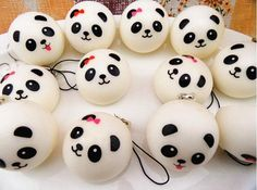 Hot Selling 7cm Jumbo Panda Squishy Charms Kawaii Buns Bread Cell Phone Key/bag Strap Pendant Squishes Bag Accessories Luggage & Bags