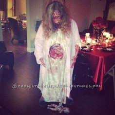 Really Scary Pregnant Zombie Halloween Costume!... This website is the Pinterest of Homemade Costumes