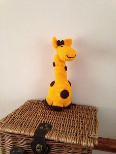Handmade spotty giraffe by Bitzas on Etsy