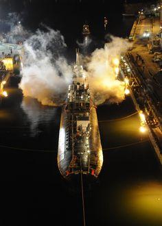 The Los Angeles-class attack submarine USS Miami (SSN-755).