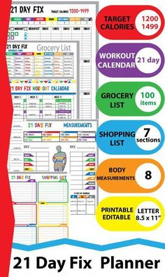 1200 Calorie Diet Plan, Ketogenic Diet Meal Plan, Diet Meal Plans, Calorie Calculator, 21 Day Fix Diet, 21 Day Fix Meal Plan, 21 Day Fix Workouts, Calorie Tracker, Workout Calendar