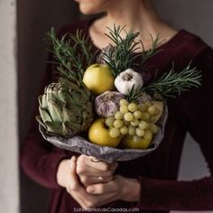 Karolina Samalė creates one-of-a-kind bouquets that you can eat. Learn how to make your first edible bouquet. Fruits And Vegetables Images, Edible Bouquets, Diy Projects Cans, Heirloom Roses, Color Palate, Floral Headbands, Beautiful Wedding Cakes, Christmas Decorations, Canning