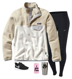 """""""Early dismissal ❄️"""" by ephendricks ❤ liked on Polyvore featuring NIKE, Patagonia, women's clothing, women, female, woman, misses and juniors"""