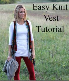 ONE little MOMMA: Easy Knit Vest Tutorial- No Sew