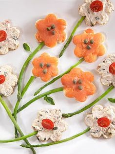 Tea Sandwiches for the High Tea very creative but may take some time to make