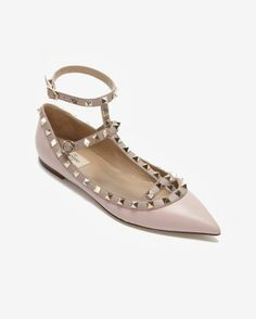 Valentino Rockstud Ballerina: Rose perfect for spring/summer long flowy skirts