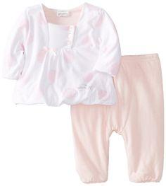 ABSORBA Baby-Girls Newborn G Love Pant Set, Pink, 0-3 Months