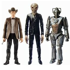 This is an 11th Doctor themed 3-pack of action figures from Doctor Who. It features a figure of the 11th Doctor, the Corroded Cyberman, and a Silent. Very cool. Doctor Who fans are blessed with so man