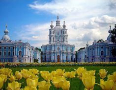 The Smolny Institute, St. Petersburg.  Built by Empress Elizabeth's masterful architect Rastrelli, it was originally a school for noble young ladies from impoverished families.  Ironically it housed Lenin's office during the Civil War that followed the Revolution.