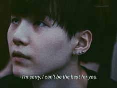 As mum to an ARMY who this boy has helped so much, along with the rest of BTS, I would say you've been the VERY best for us. Frases Bro, Frases Tumblr, Bts Lyrics Quotes, Bts Qoutes, Bts Texts, Album Bts, Quote Aesthetic, Mood Quotes, Gloomy Quotes