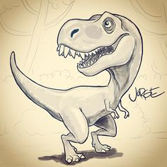 https://www.facebook.com/jorgeeeel.art #tRex #Dinosaur #sketch