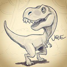 https://www.facebook.com/jorgeeeel.art #tRex #Dinosaur #sketch