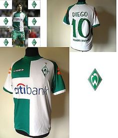 Maglia Calcio Werder Bremen '07-'08 Diego Ribas Football Kappa Trikot Tg.M (B86)
