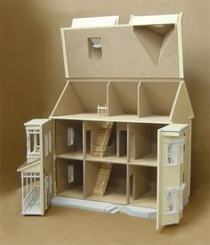 Victorian+Dollhouse+Kits | Front Opening Country Victorian Dollhouse Kit