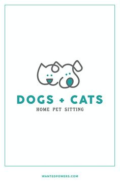 Cute Dog Cat Logo Branding | Dog Walking Pet Sitting Design | Pet Logo | Graphic Design | Pre-made Logo Design | Line Art Logo