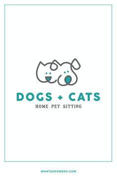 Cute Dog Cat Logo Branding | Dog Walking Pet Sitting Design | Pet Logo | Graphic Design | Pre-made Logo Design | Line Art Logo