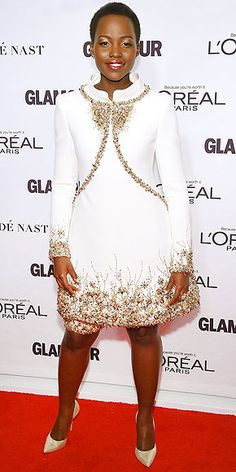 LUPITA NYONG'O'S SPARKLY SHOES photo | Love this whole look.