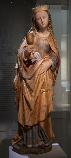 Sainte Barbe | Bois (tilleul) | Souabe, vers 1460-1470 | Albi, musée Toulouse-Lautrec