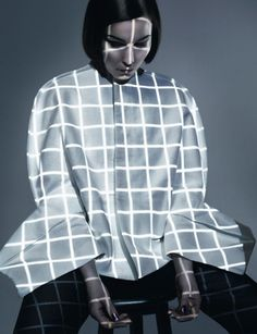 Noomi Rapace wears Rick Owens & Maison Martin Margiela for Dazed and Confused June 2012 by Solve Sundsbo. Geometric Patterns, Projector Photography, Noomi Rapace, Mode Lookbook, Big Fashion, Fashion Design, Ladies Fashion, Fashion Ideas, Fashion Shoot