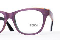 Feb31st Wood eyewear eyeglasses glasdes - 100% handmade in 15 layers of WOOD reinforced with Carbonfibre - Feb31st HOUTEN brillen, handgemaakt uit 15 lagen hout verstevigd met Carbon - http://www.optiekvanderlinden.be/Houten_brillen.html - http://www.optiekvanderlinden.be/feb31st.html bij Optiek Van der Linden in Zele