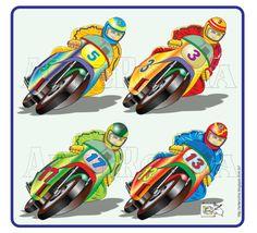 Motos multicoloridas - vetor corel draw