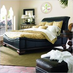 Leather Sleigh Bed