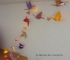 Guirlande lumineuse LED 20 ampoules Origami : Accessoires de maison par la-maison-des-ecureuils