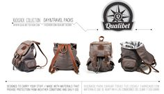 /Product Detail/  QUALIBET Rucksack Collection F/W 2012 *Available now * Follow us on FB. facebook.com/qualibet.design -All rights reserved- Travel Packing, Weather Conditions, Carry On, Backpacks, Facebook, Collection, Bags, Design, Viajes