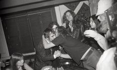 Aw, Ronnie hugging Keith Moon