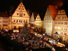 Rothenburg, Germany for Christmas.  Absolutely adored this village and getting to be there for the Christmas Markets.