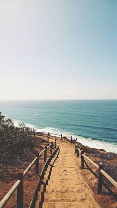 Beach Shore Stairs Path iPhone 5 Wallpaper