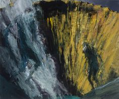Crater, 2013, Euan MacLeod. New Zealander, born in 1956 - Acrylic on Polyester -