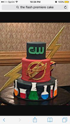 The Flash CW premiere cake